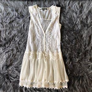 black & white tie dye high low chiffon dress
